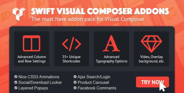 Swift Visual Composer Addons - CodeCanyon Item for Sale