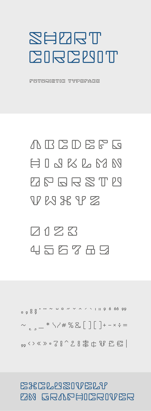 Short Circuit Futuristic Font - Futuristic Decorative