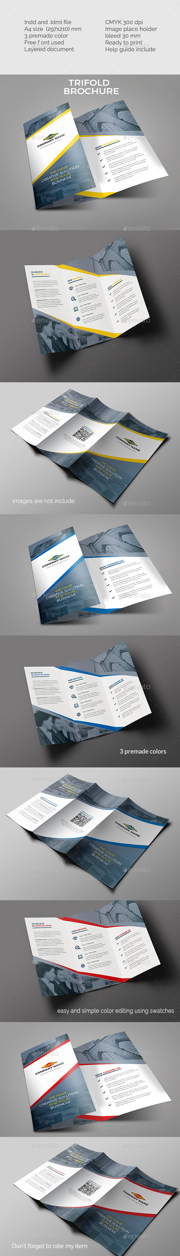 Simple Trifold Brochure - Corporate Brochures