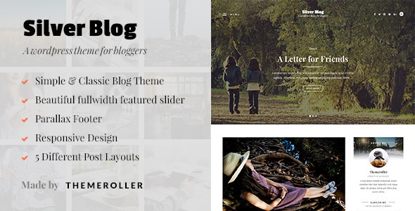 Silver Blog – A Simple WordPress Blog Theme