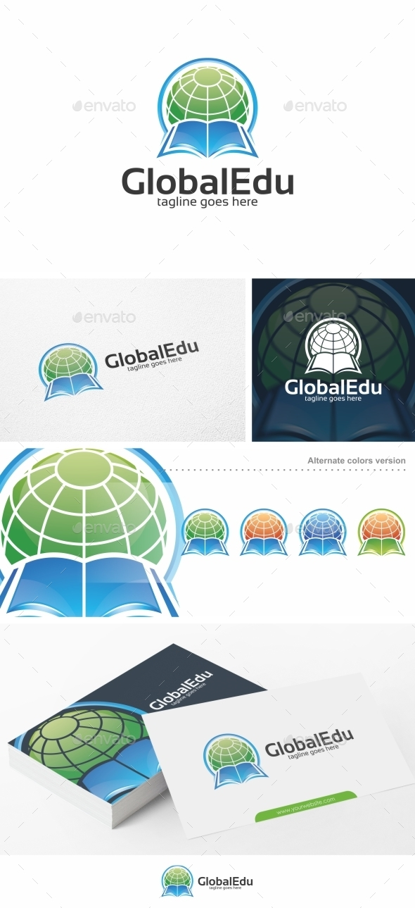 Global Edu / Education - Logo Template - College Logo Templates
