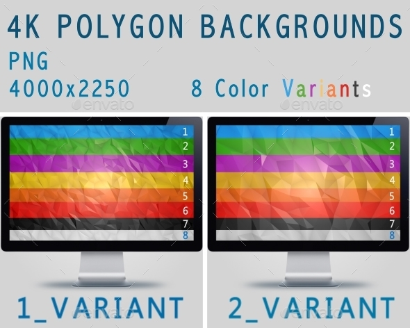 4K Polygon Backgrounds - Backgrounds Graphics