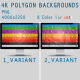 4K Polygon Backgrounds - GraphicRiver Item for Sale