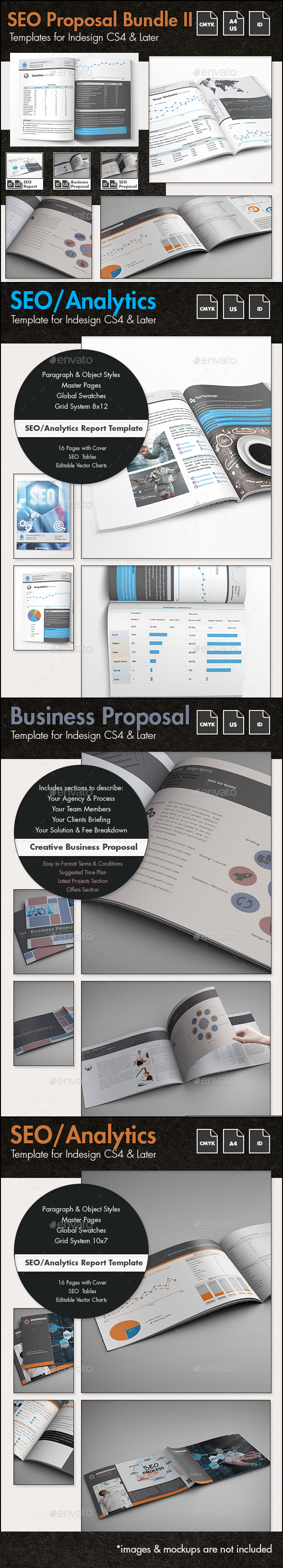 SEO - Business Proposal Templates Bundle II - Proposals & Invoices Stationery