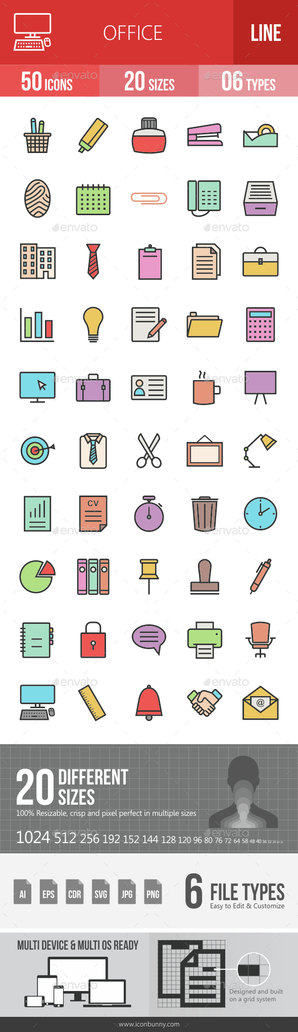 Office Filled Line Icons - Icons