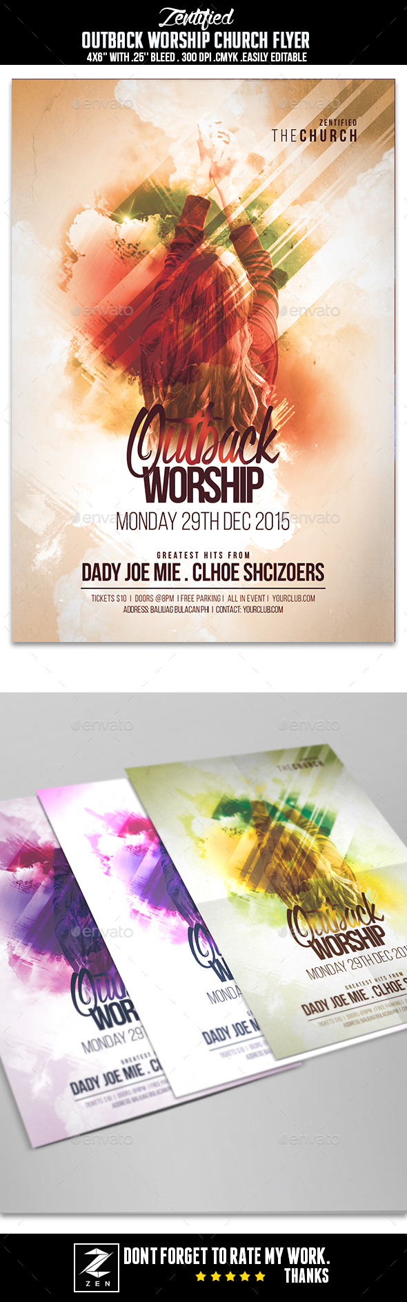 Outback Worship Church Flyer - Events Flyers