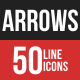 Arrows Filled Line Icons