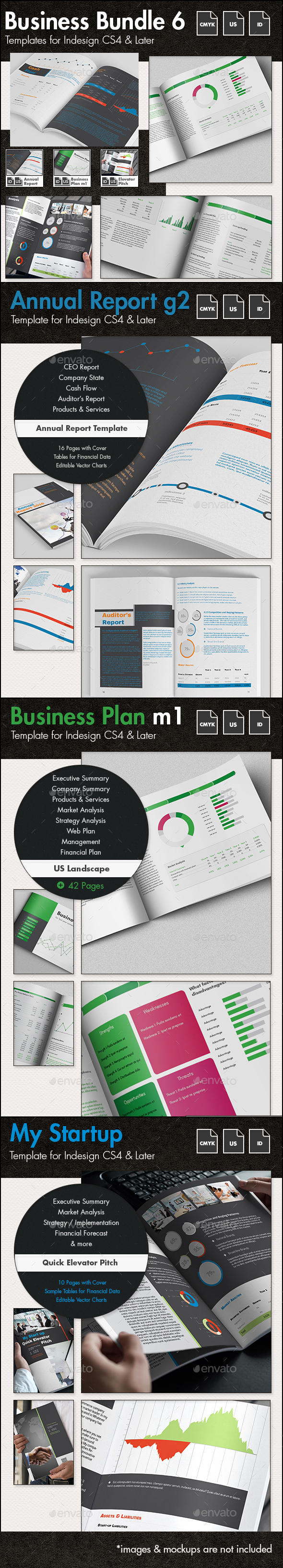 Business Templates Bundle VI - US Letter - Corporate Brochures