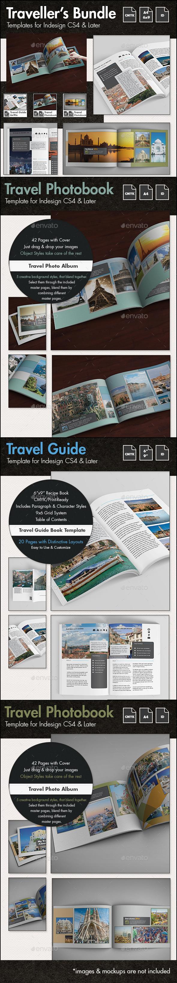 Travel Templates Bundle - Photo Albums Print Templates