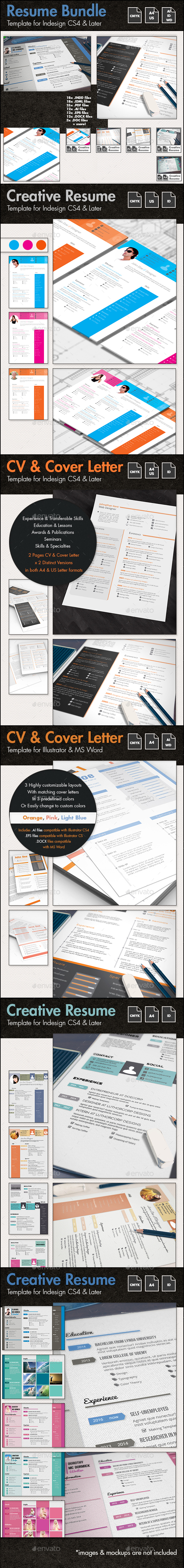 The Ultimate CV and Resume Template Bundle - Resumes Stationery