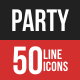 Party Filled Line Icons