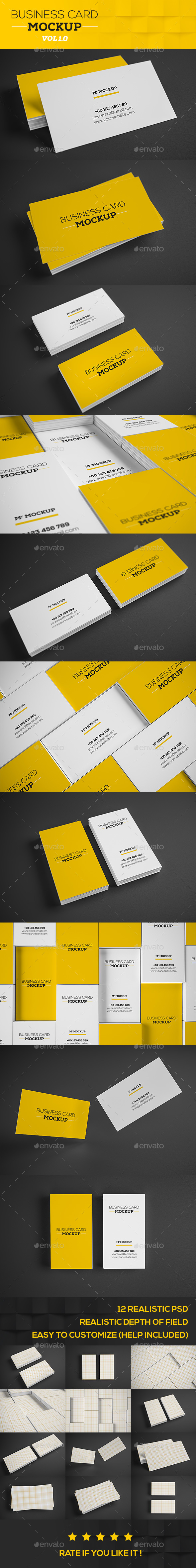 Realistic Business Card Mock-up V1 - Product Mock-Ups Graphics