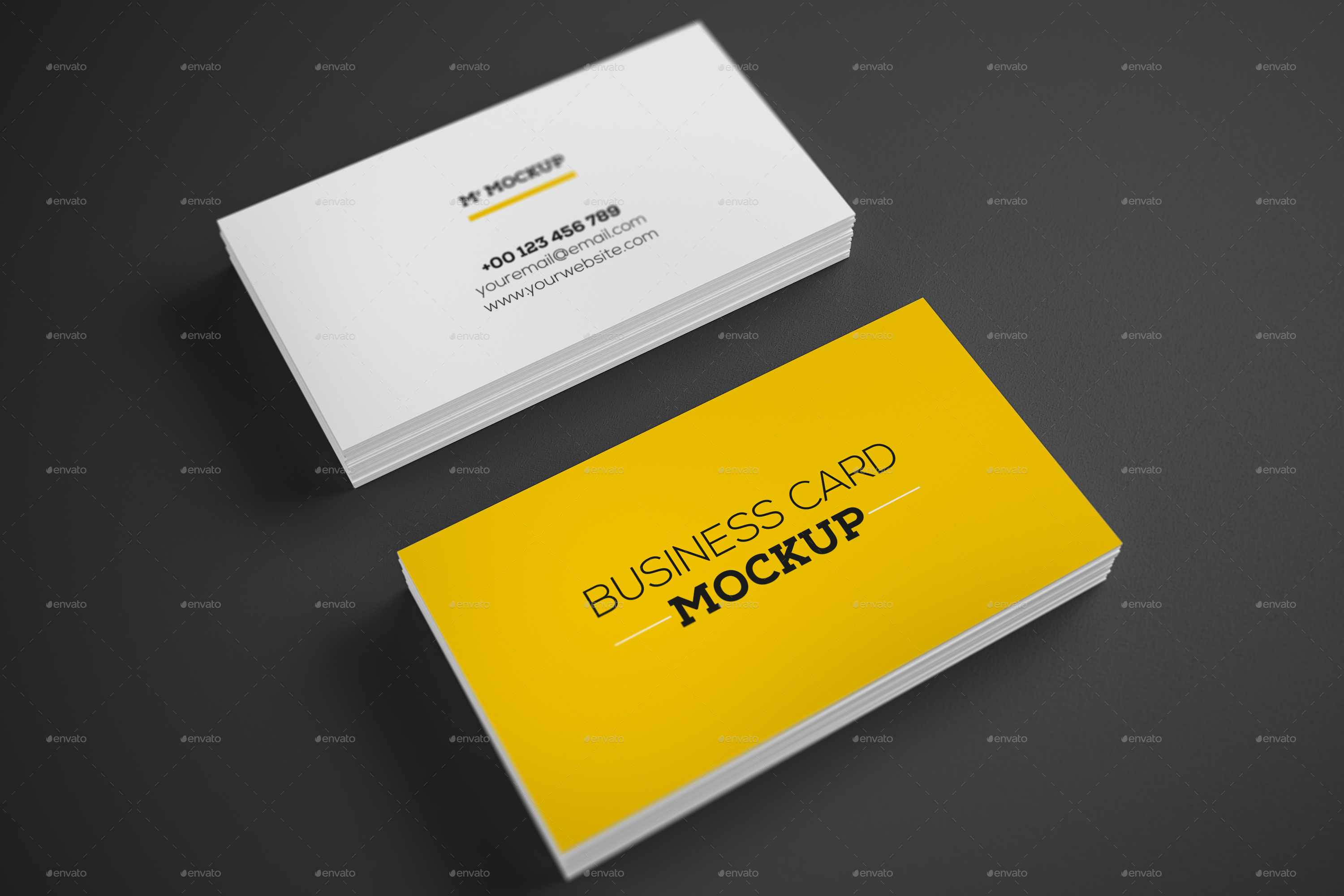 Realistic business card mock up v1 by fatehzid graphicriver set of preview001 mockup 2g reheart Choice Image