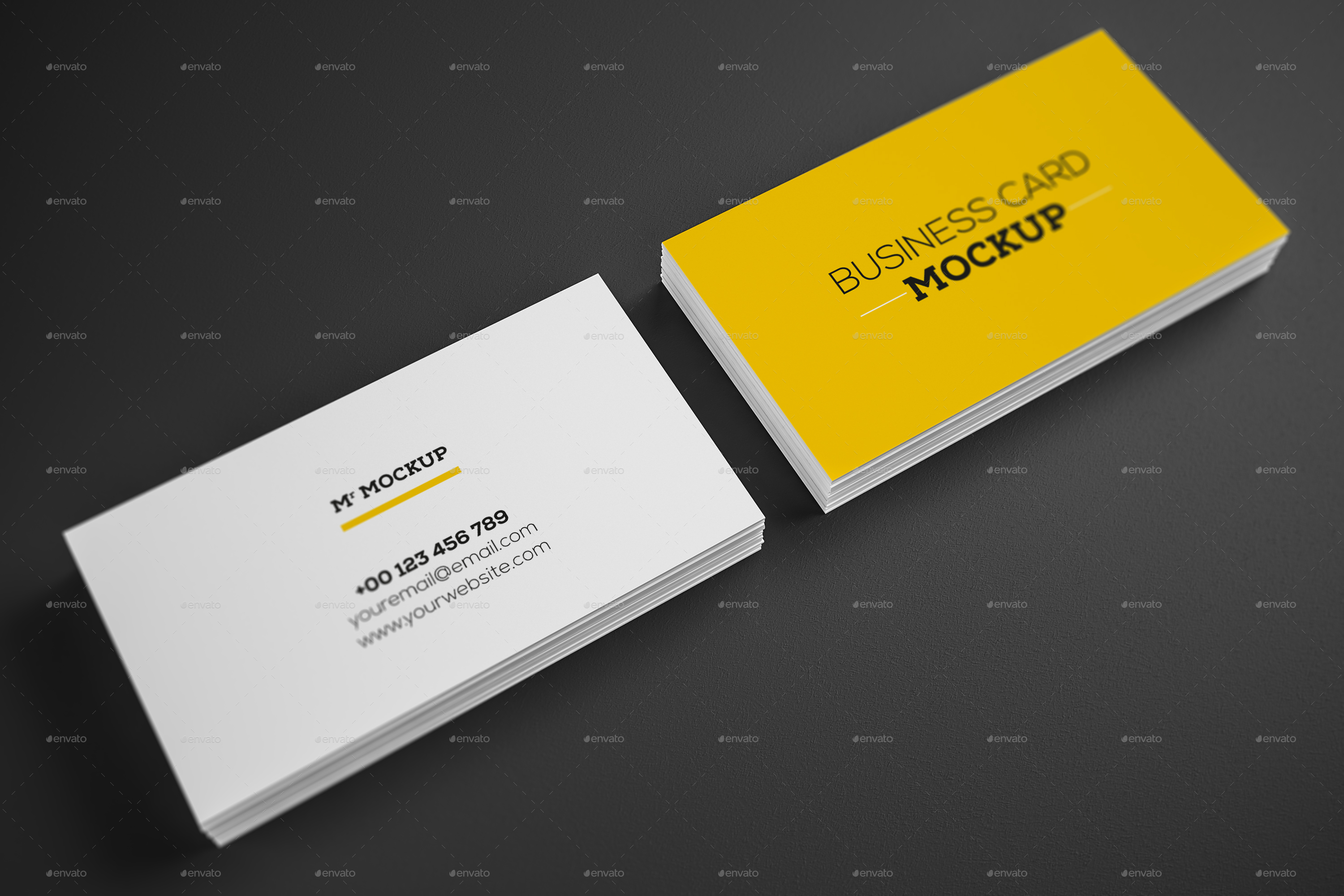 Realistic Business Card Mock up V1 by Fateh Zid