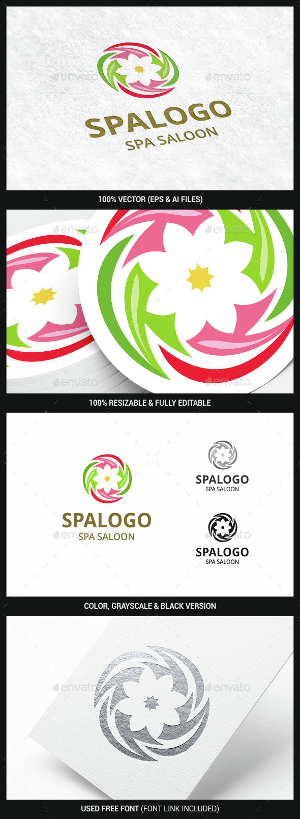 Spa Flower - Nature Logo Templates