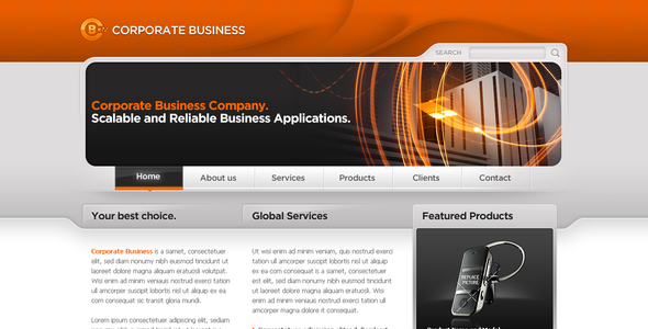 Business Template #06 - Corporate PSD Templates