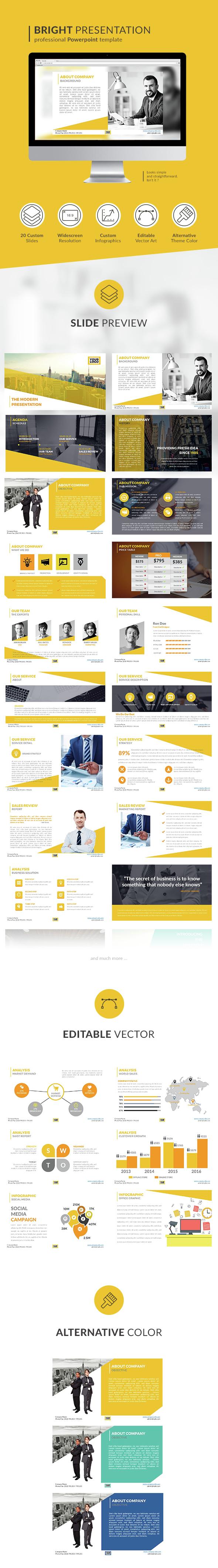 Modern Bright Presentation - Business PowerPoint Templates