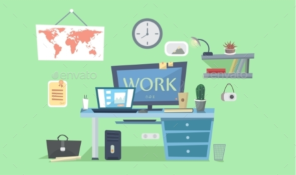 Work Place Designer - Computers Technology