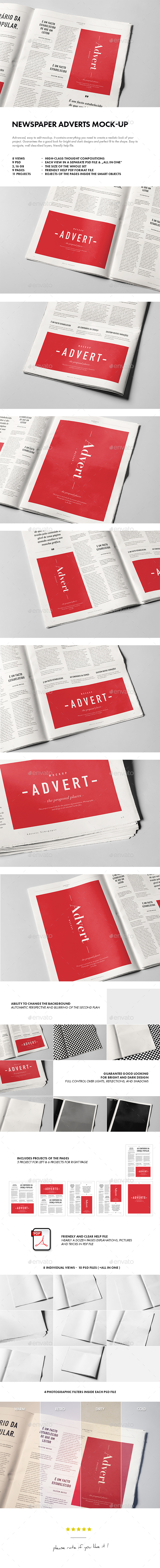 Newspaper Adverts Mock-up - Miscellaneous Print
