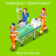 Hospital 22 People Isometric - GraphicRiver Item for Sale