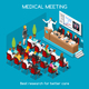 Medical Meeting People Isometric - GraphicRiver Item for Sale