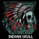 Indian Skull T-shirt design - GraphicRiver Item for Sale