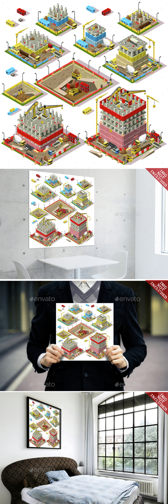 City Map Set 03 Tiles Isometric - Buildings Objects