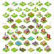 City Map Set 03 Tiles Isometric - GraphicRiver Item for Sale