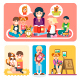 Happy Children in Kindergarten - GraphicRiver Item for Sale