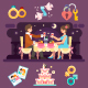 Romantic Dinner of Lovely Couple. - GraphicRiver Item for Sale