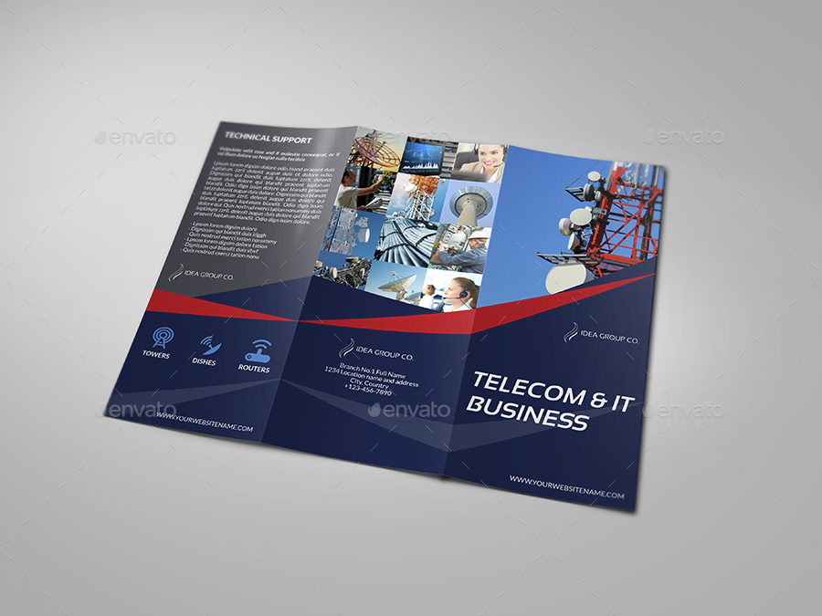 Telecom Services Tri Fold Brochure Template By Owpictures