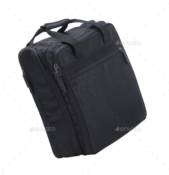 laptop Bag isolated on white - Stock Photo - Images
