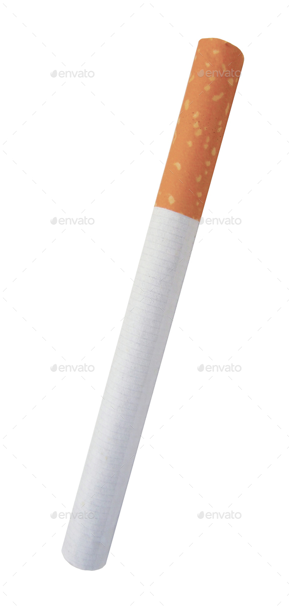 cigarette isolated on white - Stock Photo - Images