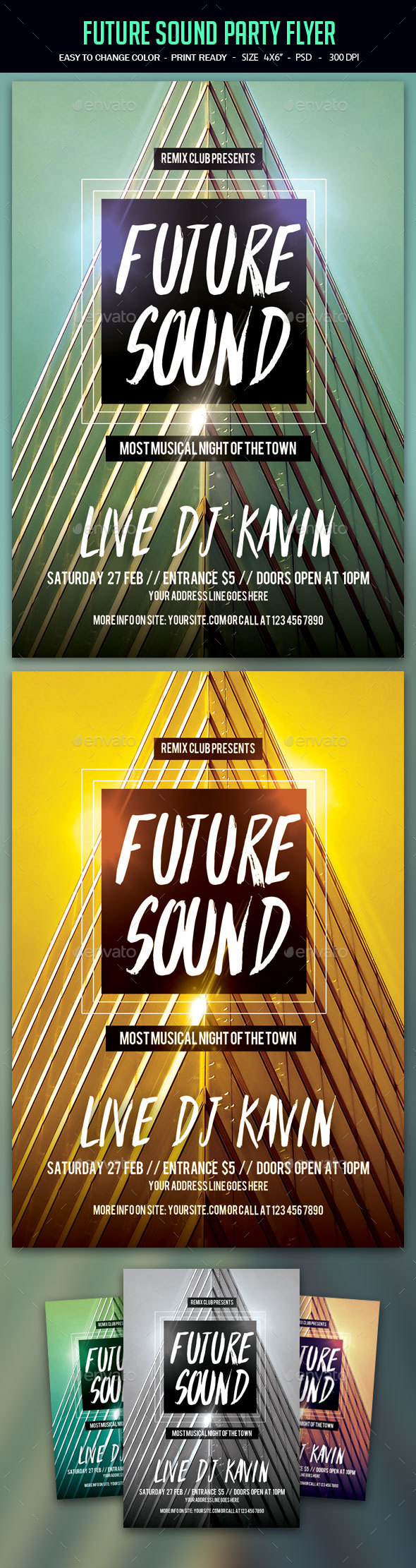 Future Sound Party Flyer - Clubs & Parties Events