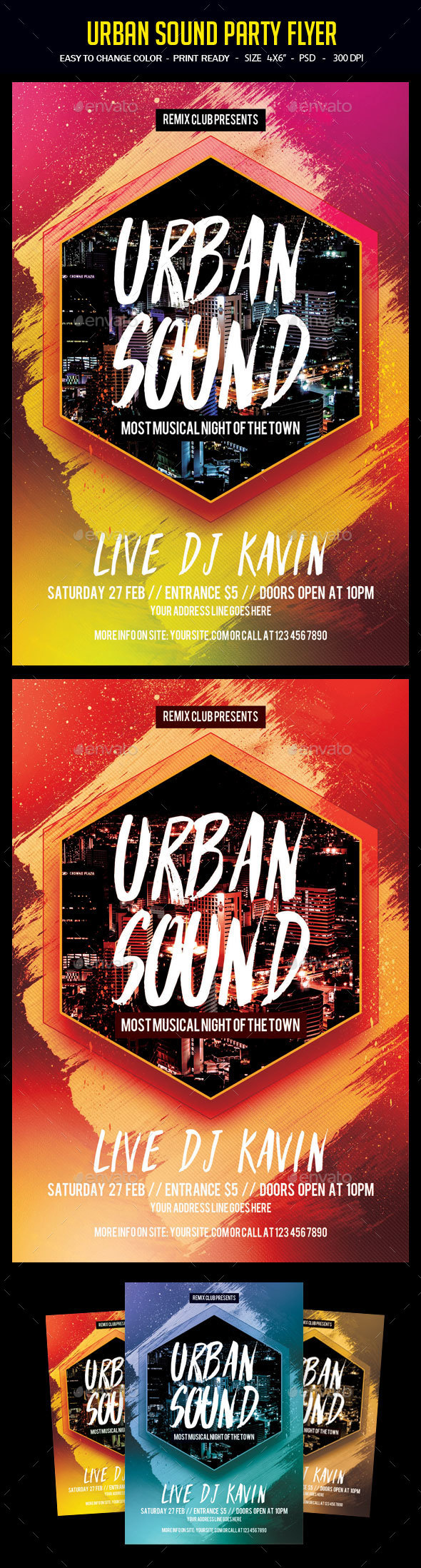 Urban Sound Party Flyer - Clubs & Parties Events
