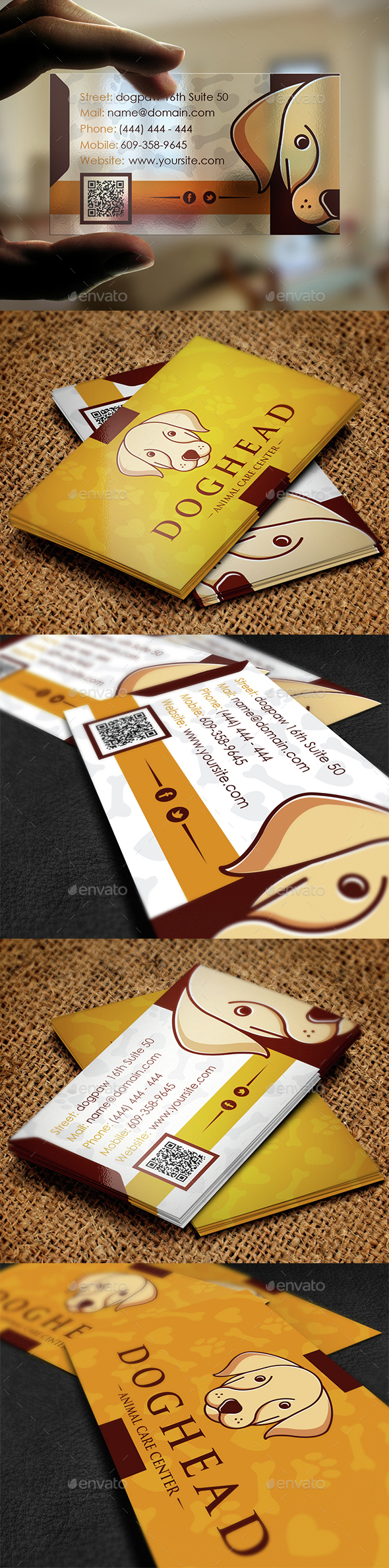 Pet Shop Business Card - Industry Specific Business Cards