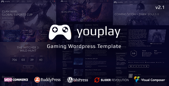 Youplay – Gaming WordPress Theme