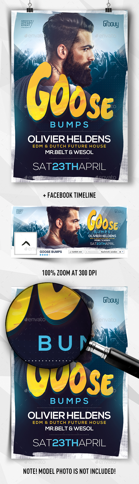 Goose Bumps EDM Flyer - Clubs & Parties Events