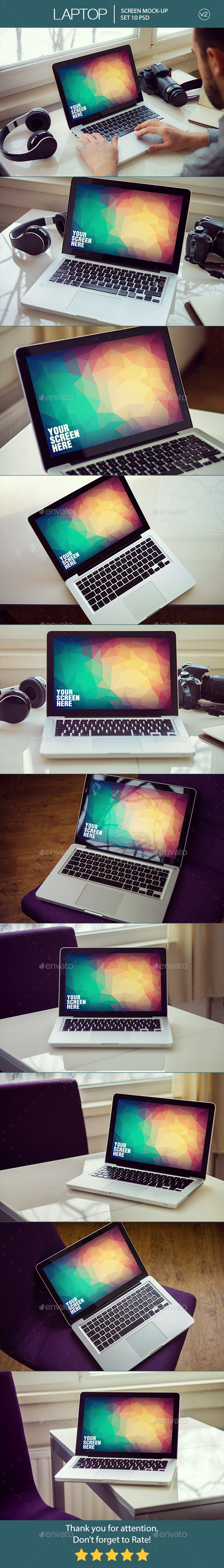 Laptop Screen Mockup v2 - Laptop Displays