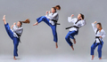 The collage of karate girl with black belt - PhotoDune Item for Sale