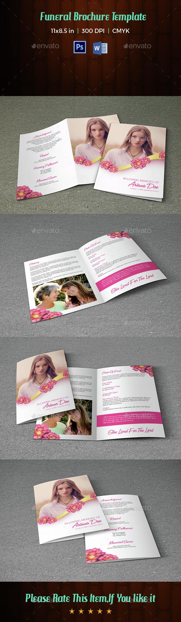 Funeral Program Template-V16 - Informational Brochures