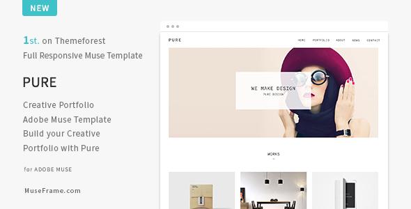 Pure – Responsive Creative Portfolio Muse Template