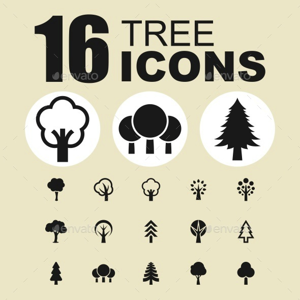 Tree icons - Objects Icons