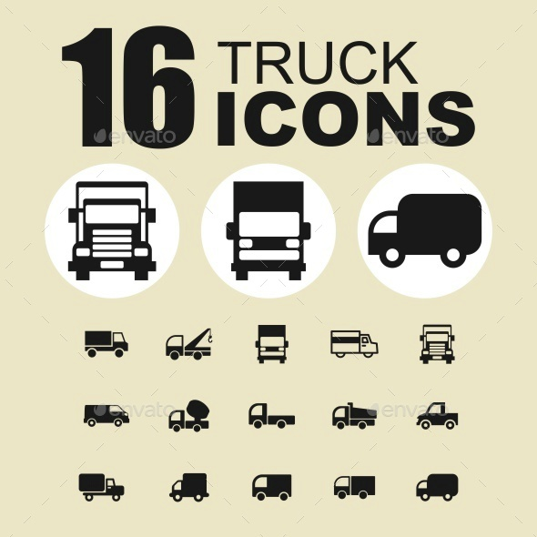 Truck icons - Objects Icons