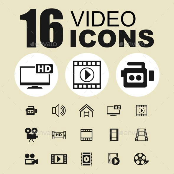 Video icons - Media Icons