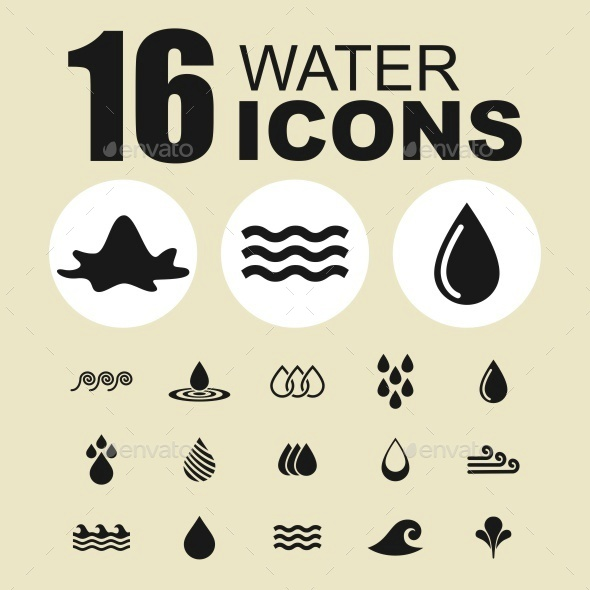 Water icons - Abstract Icons