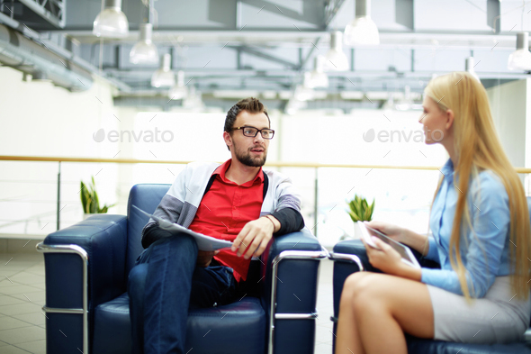 Meeting of colleagues - Stock Photo - Images