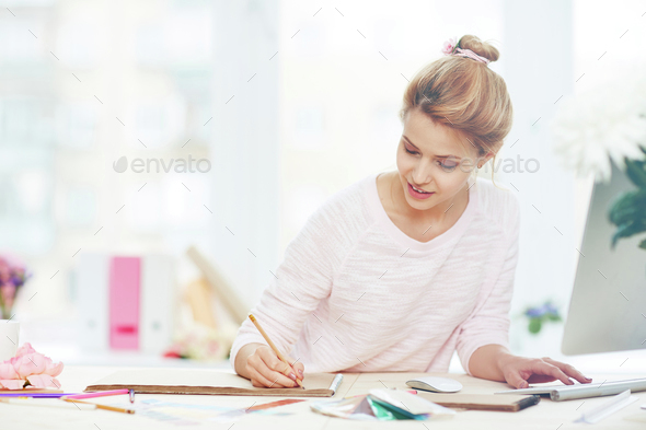 Designer at work - Stock Photo - Images
