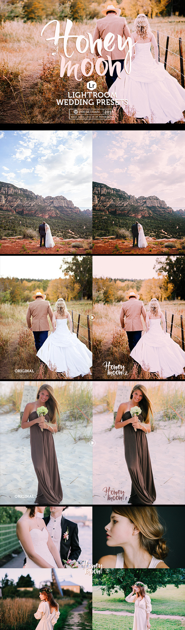 Honeymoon Wedding Lightroom Presets - Wedding Lightroom Presets