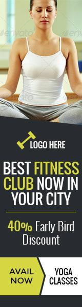 GWD | Health & Fitness Club Banner - 07 Sizes